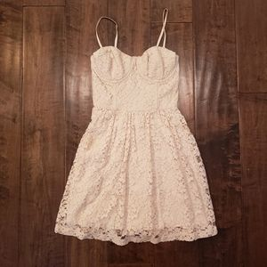 Abercrombie and Fitch Ivory Lace Bodice Dress